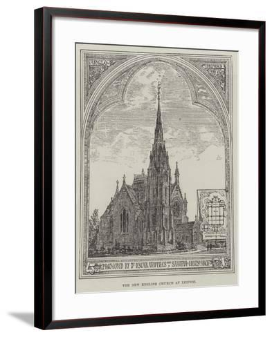 The New English Church at Leipsic--Framed Art Print