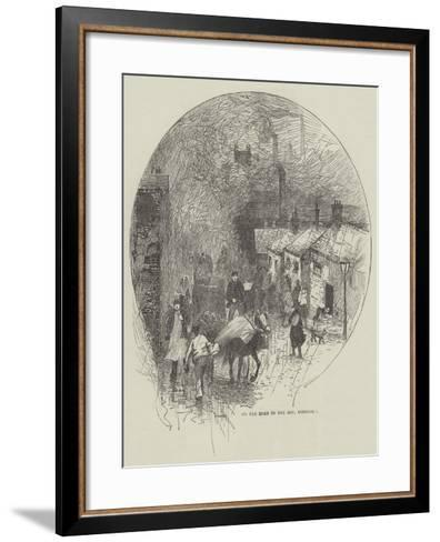 On the Road to One Ash, Rochdale--Framed Art Print