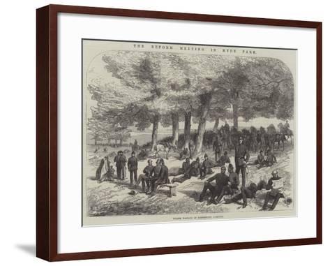 The Reform Meeting in Hyde Park--Framed Art Print