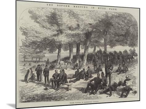 The Reform Meeting in Hyde Park--Mounted Giclee Print