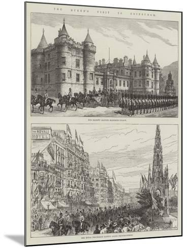 The Queen's Visit to Edinburgh--Mounted Giclee Print