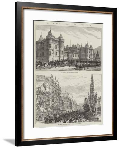 The Queen's Visit to Edinburgh--Framed Art Print