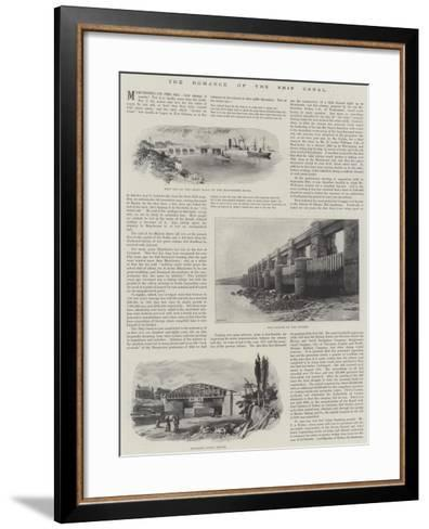 The Romance of the Ship Canal--Framed Art Print