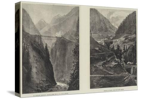 The St Gothard Railway Tunnel--Stretched Canvas Print