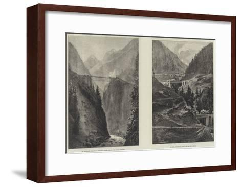 The St Gothard Railway Tunnel--Framed Art Print