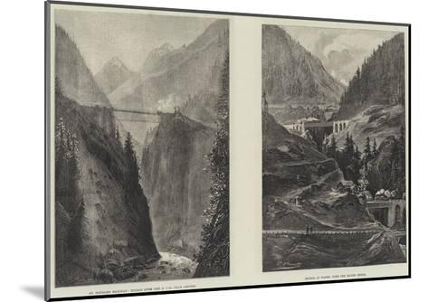 The St Gothard Railway Tunnel--Mounted Giclee Print
