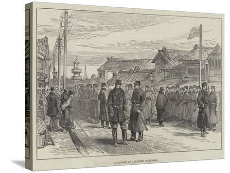 A Muster of Japanese Policemen--Stretched Canvas Print