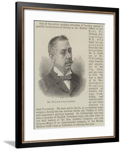 Dr William Collingridge--Framed Art Print