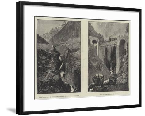 The St Gothard Railway--Framed Art Print