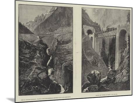 The St Gothard Railway--Mounted Giclee Print
