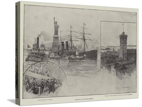 Entrance to New York Harbour--Stretched Canvas Print