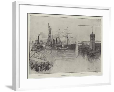 Entrance to New York Harbour--Framed Art Print