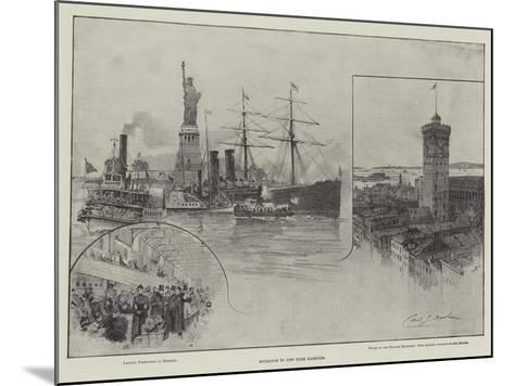 Entrance to New York Harbour--Mounted Giclee Print