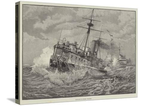 Ironclads in Stormy Weather--Stretched Canvas Print