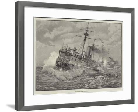 Ironclads in Stormy Weather--Framed Art Print