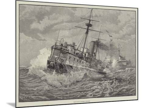 Ironclads in Stormy Weather--Mounted Giclee Print