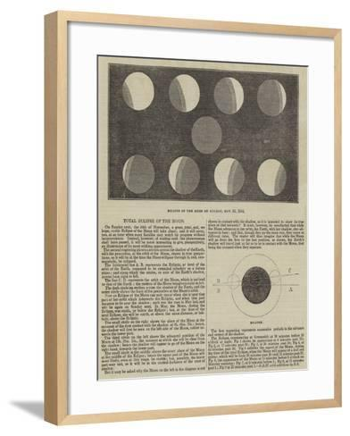 Total Eclipse of the Moon--Framed Art Print