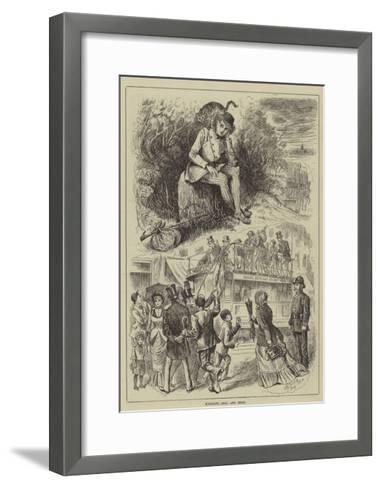 Highgate, Real and Ideal--Framed Art Print