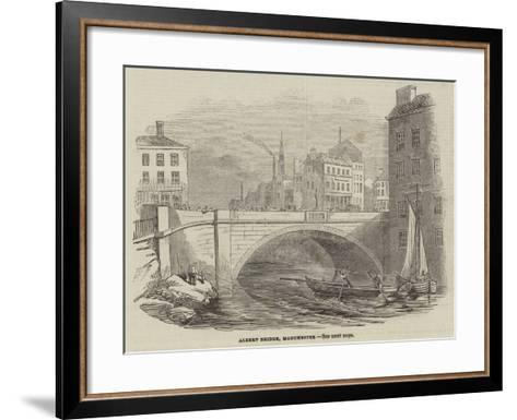 Albert Bridge, Manchester--Framed Art Print