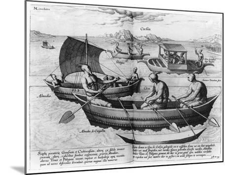 Chinese Sailing Ships--Mounted Giclee Print