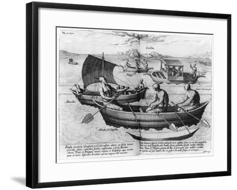 Chinese Sailing Ships--Framed Art Print