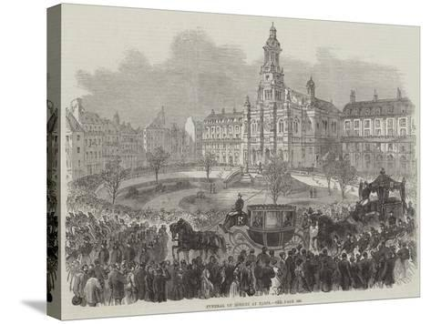Funeral of Rossini at Paris--Stretched Canvas Print