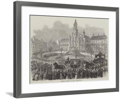Funeral of Rossini at Paris--Framed Art Print