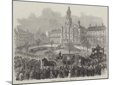 Funeral of Rossini at Paris--Mounted Giclee Print
