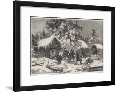 Bear-Hunting in Sweden--Framed Art Print