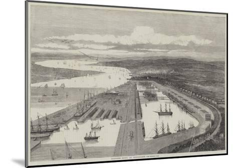 Proposed Docks at Northfleet--Mounted Giclee Print