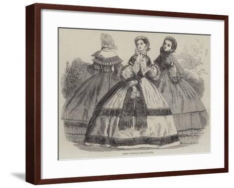 Paris Fashions for October--Framed Art Print