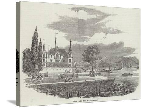 Vevay and the Lake Leman--Stretched Canvas Print