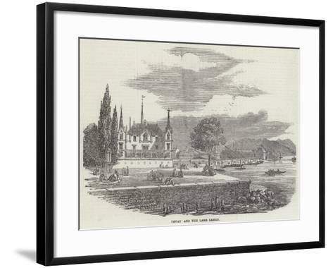 Vevay and the Lake Leman--Framed Art Print