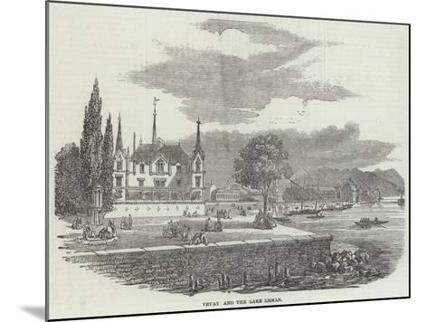 Vevay and the Lake Leman--Mounted Giclee Print