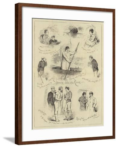 Showery Day on the River--Framed Art Print