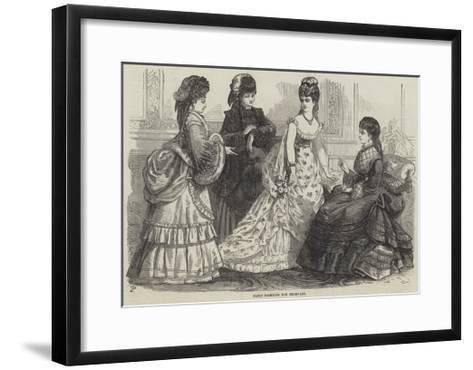 Paris Fashions for February--Framed Art Print