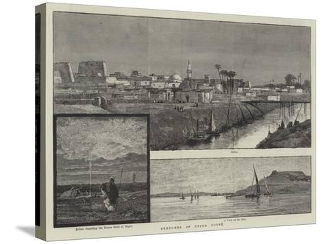 Sketches of Upper Egypt--Stretched Canvas Print