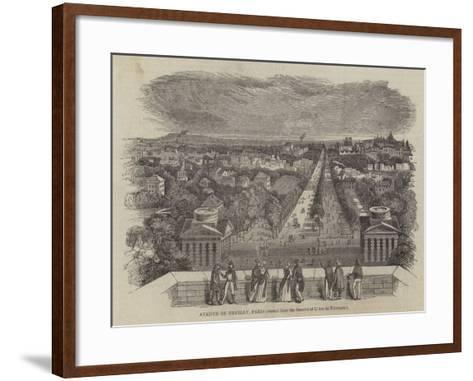 Avenue De Neuilly, Paris--Framed Art Print