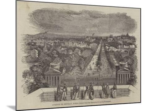 Avenue De Neuilly, Paris--Mounted Giclee Print