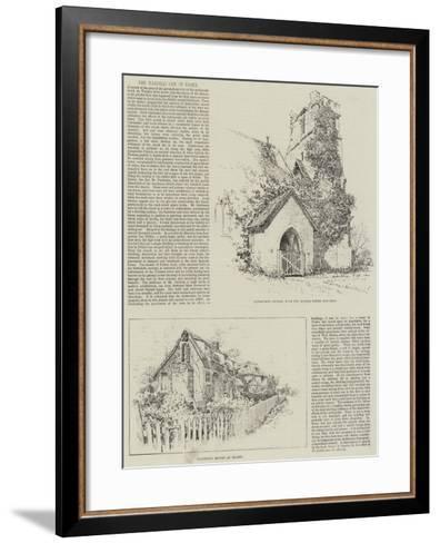 The Earthquake in Essex--Framed Art Print