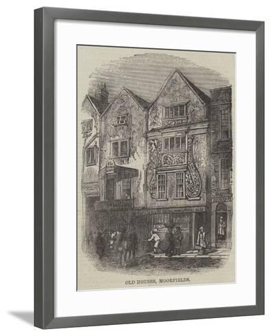 Old Houses, Moorfields--Framed Art Print