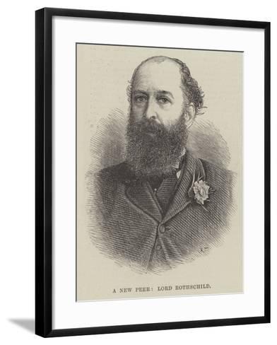 A New Peer, Lord Rothschild--Framed Art Print