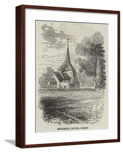 Mickleham Church, Surrey--Framed Art Print