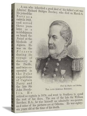 The Late Admiral Beechey--Stretched Canvas Print