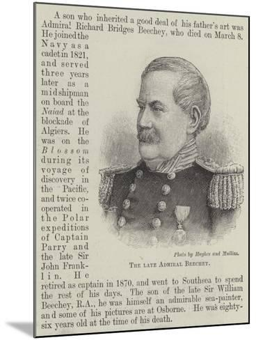 The Late Admiral Beechey--Mounted Giclee Print
