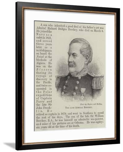 The Late Admiral Beechey--Framed Art Print