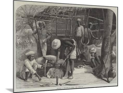 Shoeing a Bullock in India--Mounted Giclee Print
