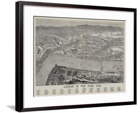London in the Year 1560--Framed Art Print