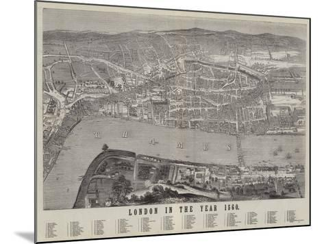 London in the Year 1560--Mounted Giclee Print