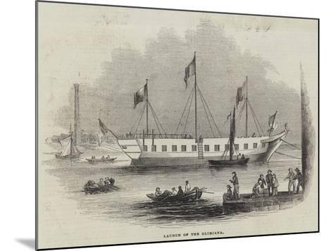 Launch of the Gloriana--Mounted Giclee Print